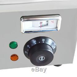 1.7 W Food Warmer 8-Pan Buffet Steam Table Bain Marie Restaurant Commercial 110V