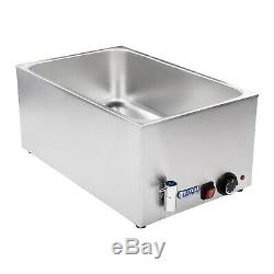 1 Pan Bain Marie Electric Wet Well Food Warmer Holder Stainless Steel Pot 1200W