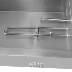 110V 5-Pan Steamer Bain-Marie Buffet 1500W Countertop Food Warmer Steam Table