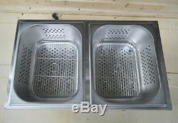 110V Commercial Hot Dog Steamer & Bun Warmer SS 12.610.25.9 of Each Pan