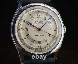 1940s Gruen Precision Very Thin Pan-American Pan-Am ACE watch, 420ss, serviced