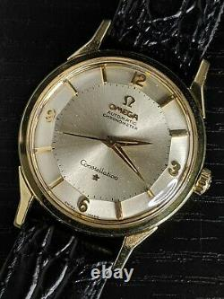 1961 SOLID 14K Omega PIE PAN Constellation (14900) SERVICED 551 vintage watch