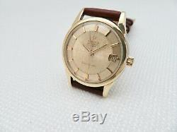 1962 OMEGA CONSTELLATION CHRONOMETER PIE PAN DIAL GOLD CAPPED 14393 61SC cal. 562