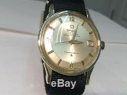 1965 OMEGA 168.005 CONSTELLATION PIE PAN S/S 14K/GP Tropical Dial Cal. 561! A++