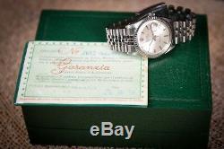 1968 Rolex Datejust, sunburst pie pan dial with Original Box & Papers