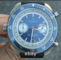 1969 Hamilton Automatic Chrono-Matic Pan Europ 703 Chronograph RARE Heuer Cal. 11