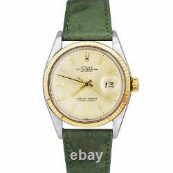 1972 FULL SET Rolex DateJust 36mm 1601 Pie-Pan Automatic Two-Tone Jubilee Watch