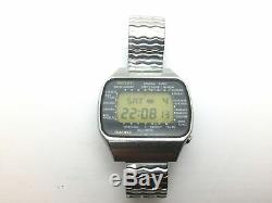 1977 SEIKO Pan AM M158 5000 LC Quartz LCD Digital Watch Rare
