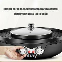 2 In 1 Electric Pan Hot Pot BBQ Frying Cook Grill Kitchen Barbecue Machine Pot