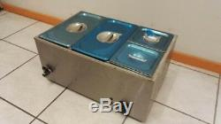 2019 Brand New Stainless Steel Commercial Electric Bain Marie With 4 Pans & Lids