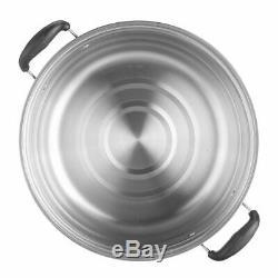 30CM Large 3 Tier Stainless Steel Steam Cooker Steamer Pan Cook Food Veg Pot Set
