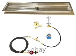 316 STAINLESS 48 T-BURNER & DIY PROPANE DELUXE FIRE TABLE KIT With 52X10 PAN