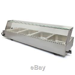 4 Pan Wet Well Bain Marie Stainless Steel 1/2 Gastronorm Pan Catering Commercial