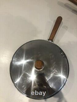 4X Vintage Prestige Stainless Steel Copper Bottom Saucepans + Frying Pan