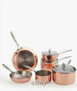 6pc Copper Sauce Pan Set SUITS ALL HOBS