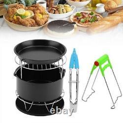 7 Pcs Air Fryer Set Chips Accessories Baking Basket Pizza Pan Home Kitchen Tools