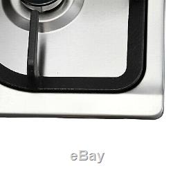 76cm 5 Burner Built in Stainless Steel Gas Hob Silver Cooktops WithSteel Pan Stand