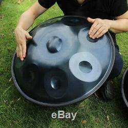 9 Notes Hand Pan Steel Hand Drum Handmade D Minor Percussion Instrument withBag