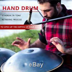 9 Notes Handpan Drum Hand Pan Carbon Steel Percussion Durable High-Grade + Bag