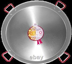 90cm Polished Paella Pan Set + 60cm Gas Burner + Spoon + SPANISH GIFT