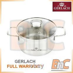 A set of pots stainless steel Cookware Kitchen Glass Lids Pot Pan Saucepan Set