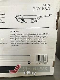 ALL-CLAD D3 Stainless Steel 14 14 inch Saute Fry Pan Made in USA New In Box
