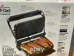 ALL-CLAD XL Stainless Steel 5-level Autosense Indoor Grill 9 Programs NIB 715850