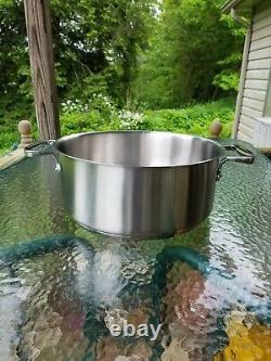 ALL CLAD brushed stainless 16 qt COMMERCIAL professional RONDEAU PAN 1st NIB