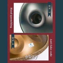 AS TEMAN 9 Notes Handpan Drum Hand Pan Carbon Percussion Durable High Grade
