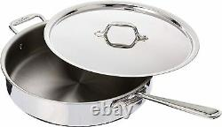 All-Clad 4406 Stainless Steel 6-Qt Try-Ply Saute Pan with Lid