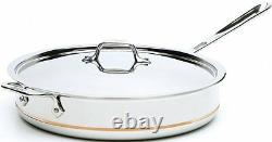 All-Clad 6403 SS 3-Qt Copper Core 5-Ply Saute Pan with Lid