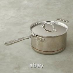 All-Clad 6404 5-Ply Copper Core Stainless Steel 4-Qt Sauce pan with Lid