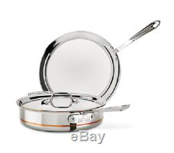 All-Clad 6405 SS 5-Qt Copper Core 5-Ply Saute Pan with Lid and Splatter Screen