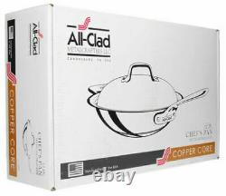 All-Clad 6412 SS Copper Core 5-Ply 12 Chefs Pan with Domed Lid NEW IN BOX