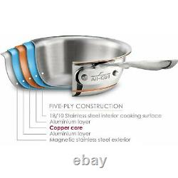 All-Clad 6412 SS Copper Core 5-Ply 12 Chefs Pan with Lid Brand New