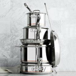 All-Clad Copper Core 10-Piece Cookware Set Pan Fry Set Size 10 & 12 stockpot