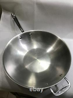 All-Clad Copper Core 14 5-Ply Bonded Open Stir Fry Pan AllClad Stainless Wok