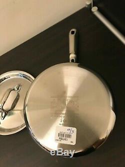 All Clad Copper Core 2 QUART Qt. Quart Sauce Pan Pot with Lid All-Clad