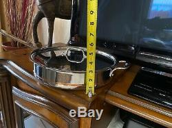 All-Clad Copper Core Wide Sauté Pan 5 qt with Lid No Factory Box See Details