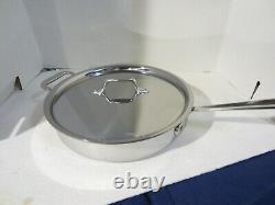 All-Clad D3 Stainless Steel Tri-Ply Bonded Saute Pan with Lid 3 QT. NEW