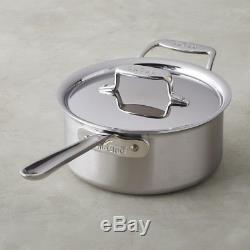All-Clad D55203 D5 Polished 18/10 SS 5-Ply Bonded 3-qt sauce Pan with Lid