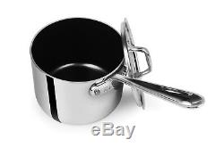 All-Clad D55204 D5 Non-Stick Polished Stainless Steel 5-Ply 4-qt sauce Pan withLid
