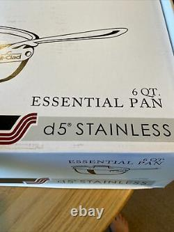 All-Clad, SD551213, d5 Stainless, 6 Qt. Essential Pan withlid NEW In Box
