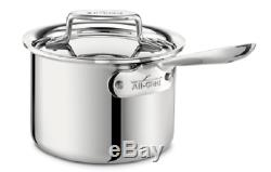 All-Clad SD55202 D5 Polished 18/10 SS 5-Ply Bonded 2-qt sauce Pan with lid