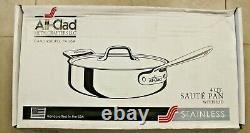 All-Clad Saute Pan, 4-Quart, Silver