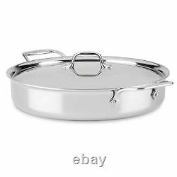 All-Clad d3 3-ply Stainless-Steel 6-Qt All-In-One/ Mother of All Pans with lid