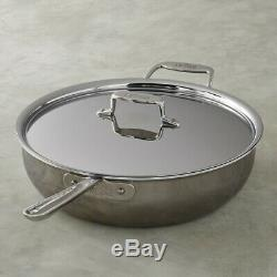 All-Clad d5 5-ply Stainless-Steel 3-Qt Essential Pan Pan With Lid
