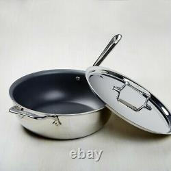 All-Clad d5 5-ply Stainless-Steel 4-Qt Non-stick Essential Pan Pan With Lid