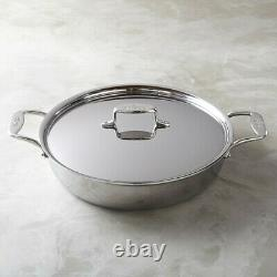 All-Clad d5 5-ply Stainless-Steel 6-Qt All-In-One Pan with lid