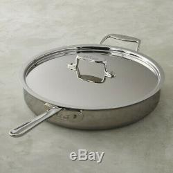 All-Clad d5 5-ply Stainless-Steel 6-Qt Saute Pan With Lid